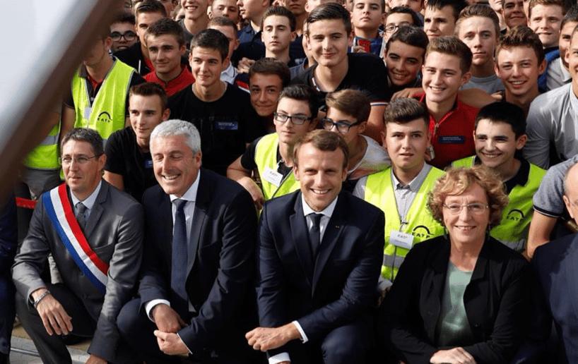 Visite Macron apprentissage bâtiment Web2vi