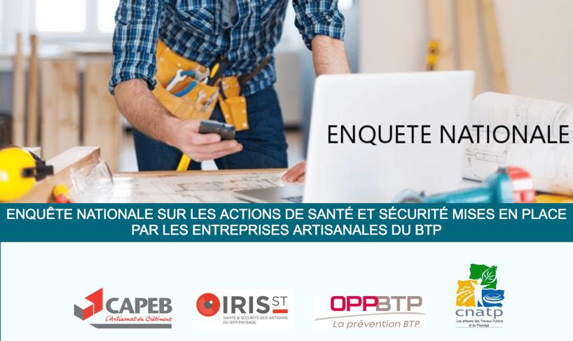 Web2vi enquête nationale pour entreprises artisanales du btp sur la santé et sécurité au travail