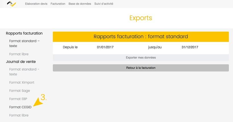 Mise à jour Web2vi logiciel de gestion export compatble CEGID bâtiment