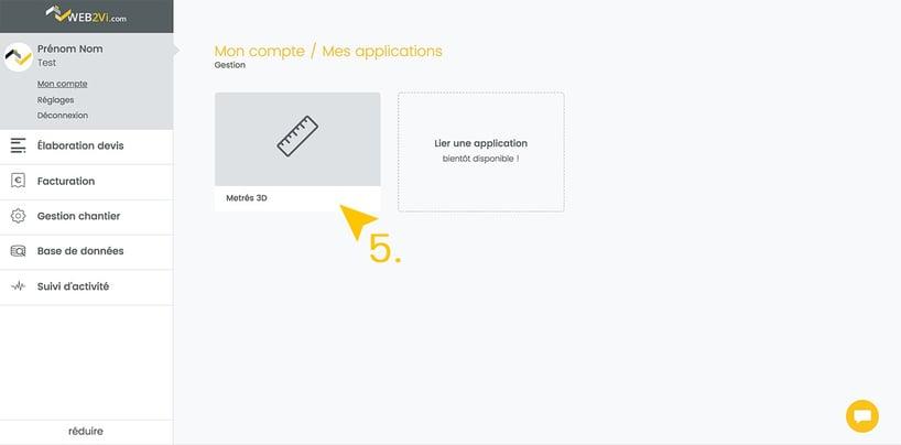 Application métrés 3D sur le logiciel de gestion du bâtiment Web2vi