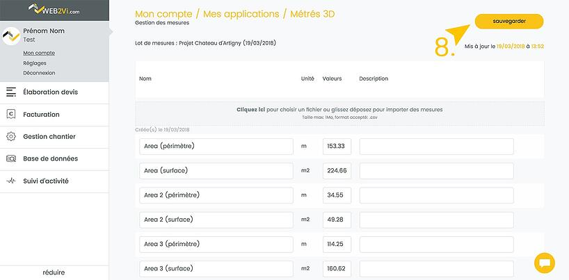 Importer vos mesures de maquette 3D dans le logiciel Web2vi