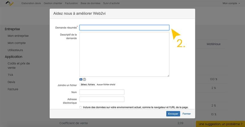 Mise à jour Web2vi une suggestion un problème service client équipe technique