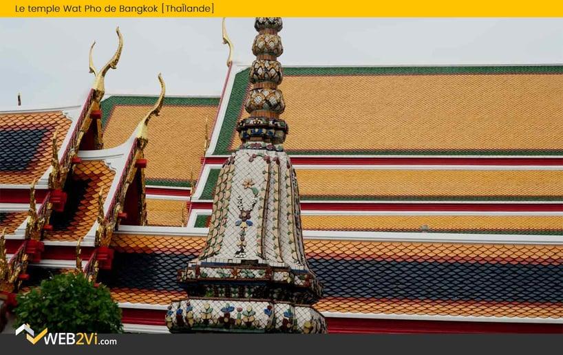 Toits du monde Web2vi couverture Thaïlande Le temple Wat Pho de Bangkok