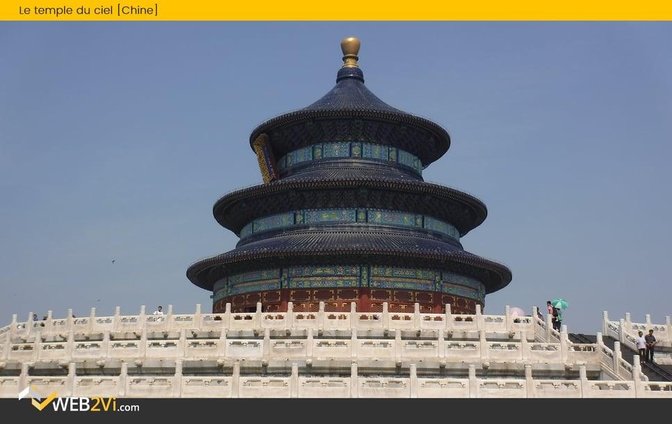 Toits du monde Web2vi couverture Chine Temple du ciel Tuiles bleues