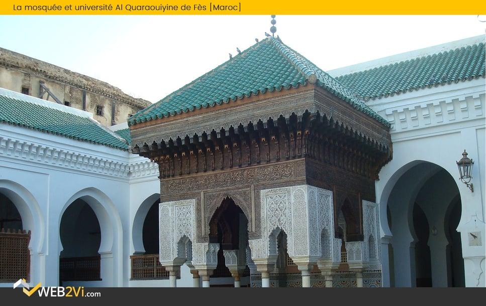 Toits du monde Web2vi Mosquée et université Al Quaraouiyine Maroc couverture