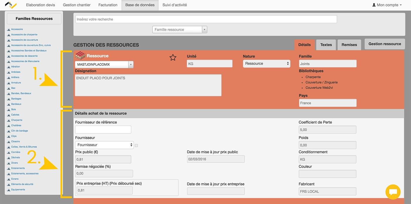 Web2vi guide d'utilisation FAQ Bibliothèque d'ouvrages base de données bâtiment