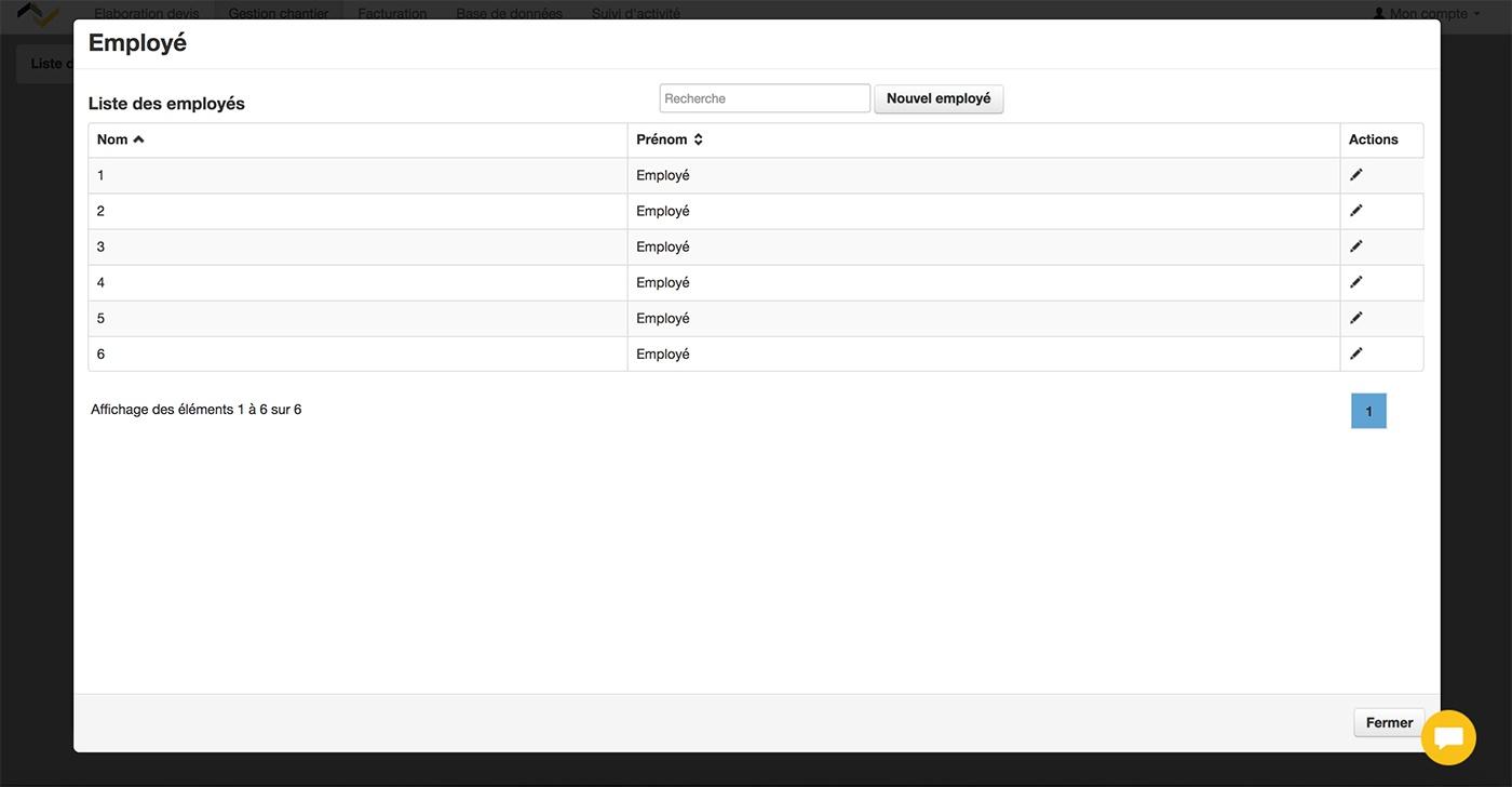 Web2vi guide d'utilisation FAQ gestion de chantier