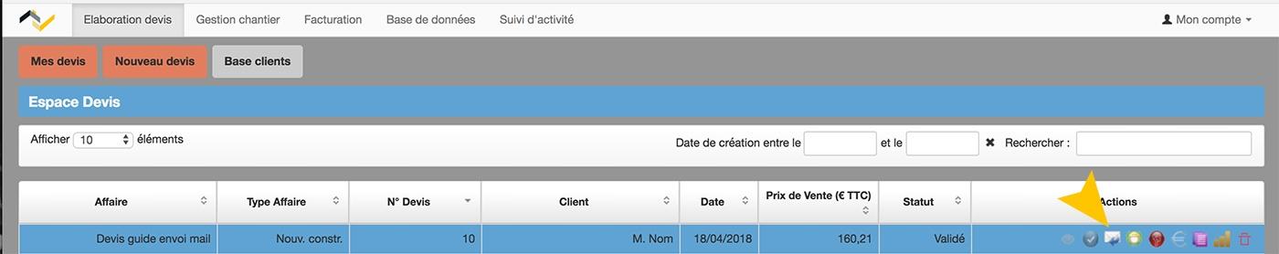 Web2vi Guide d'utilisation FAQ mail client devis facture