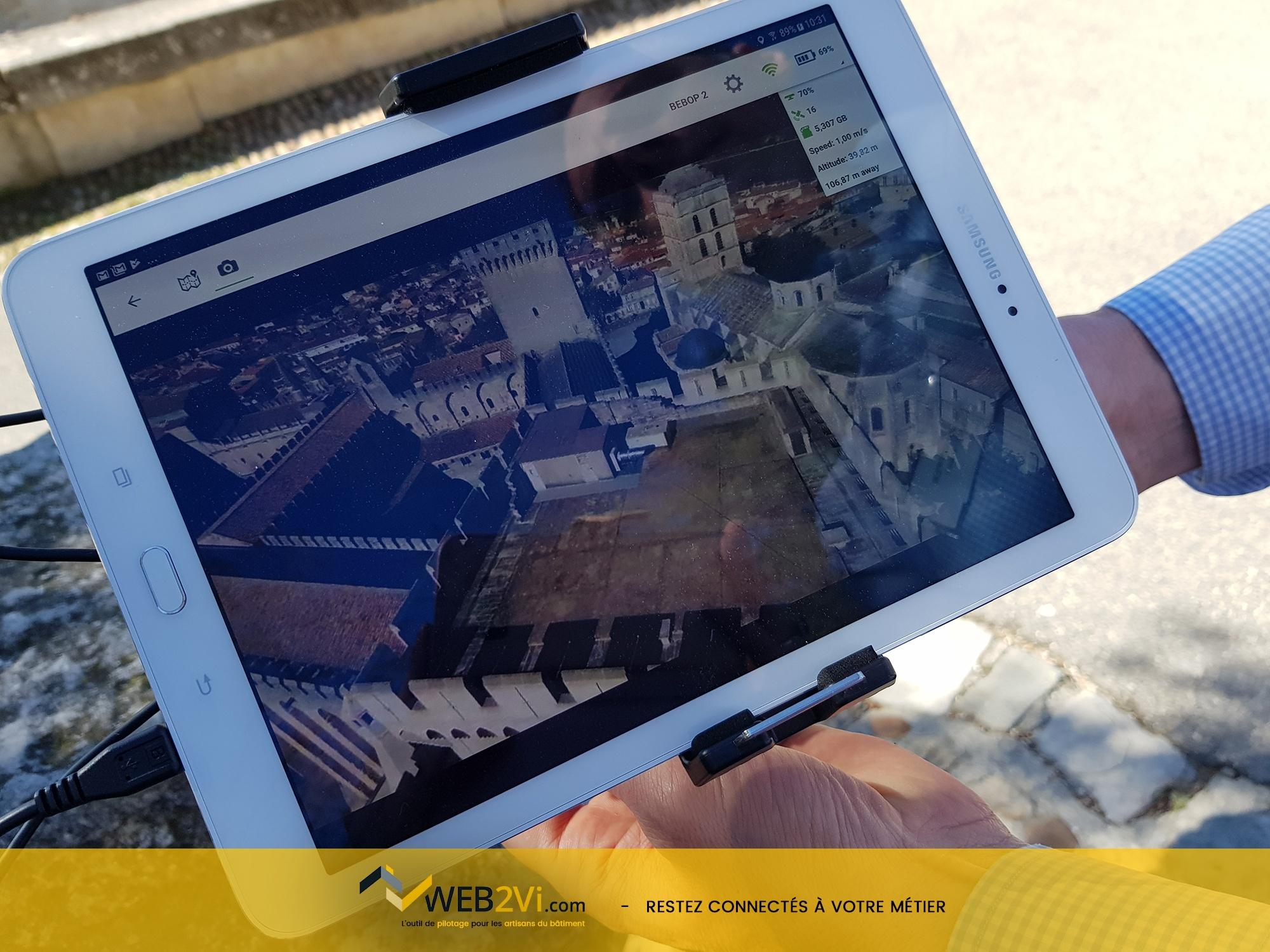 Rencontres UNCP 2018 Avignon Palais des Papes Web2vi drone Parrot métré 3D démonstration maquette