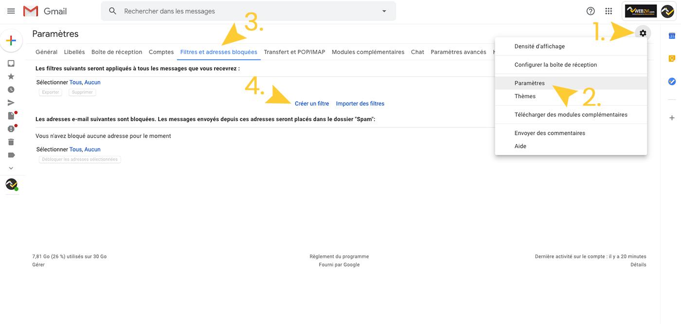 Tuto Whitelist - Gmail 1 bis