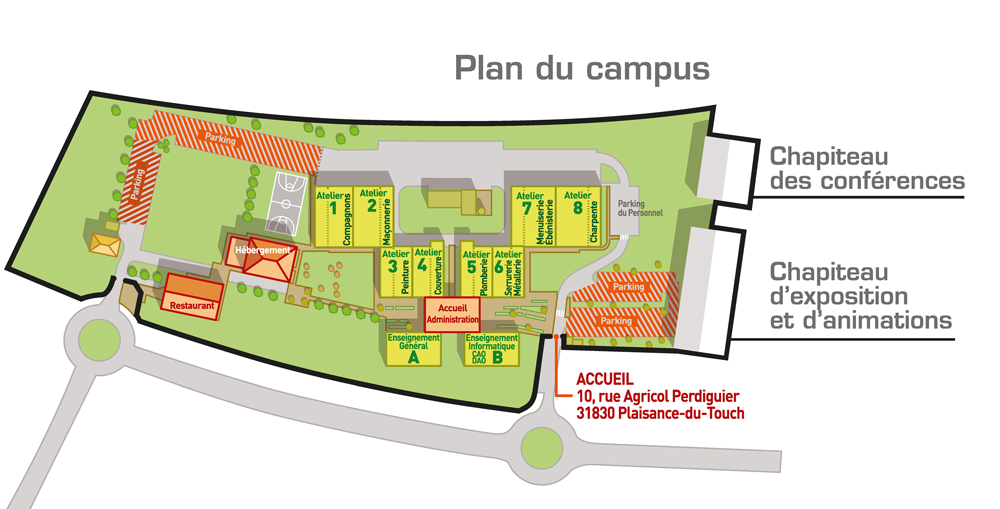 plan campus JEDC Toulouse 2018 Web2vi