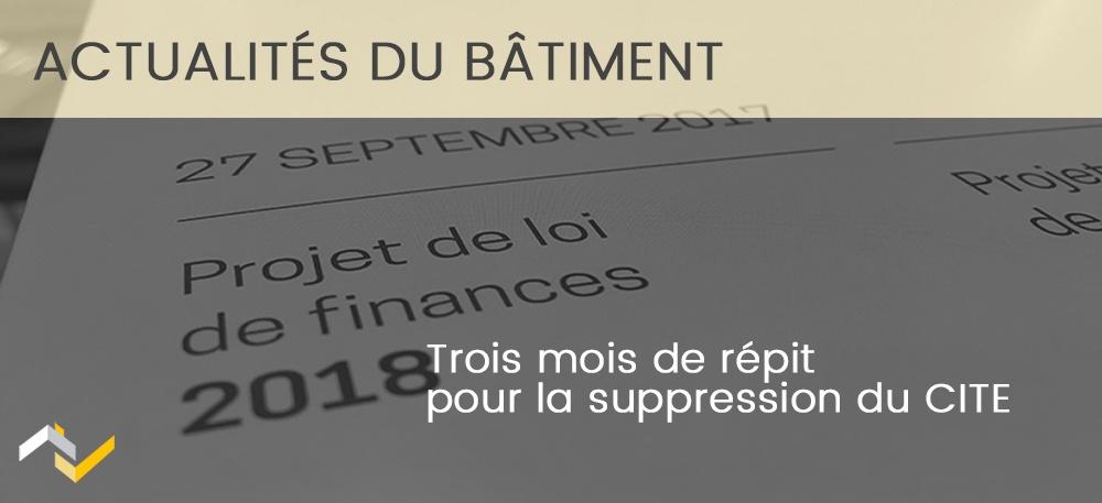 Trois mois de répit pour la suppression du CITE