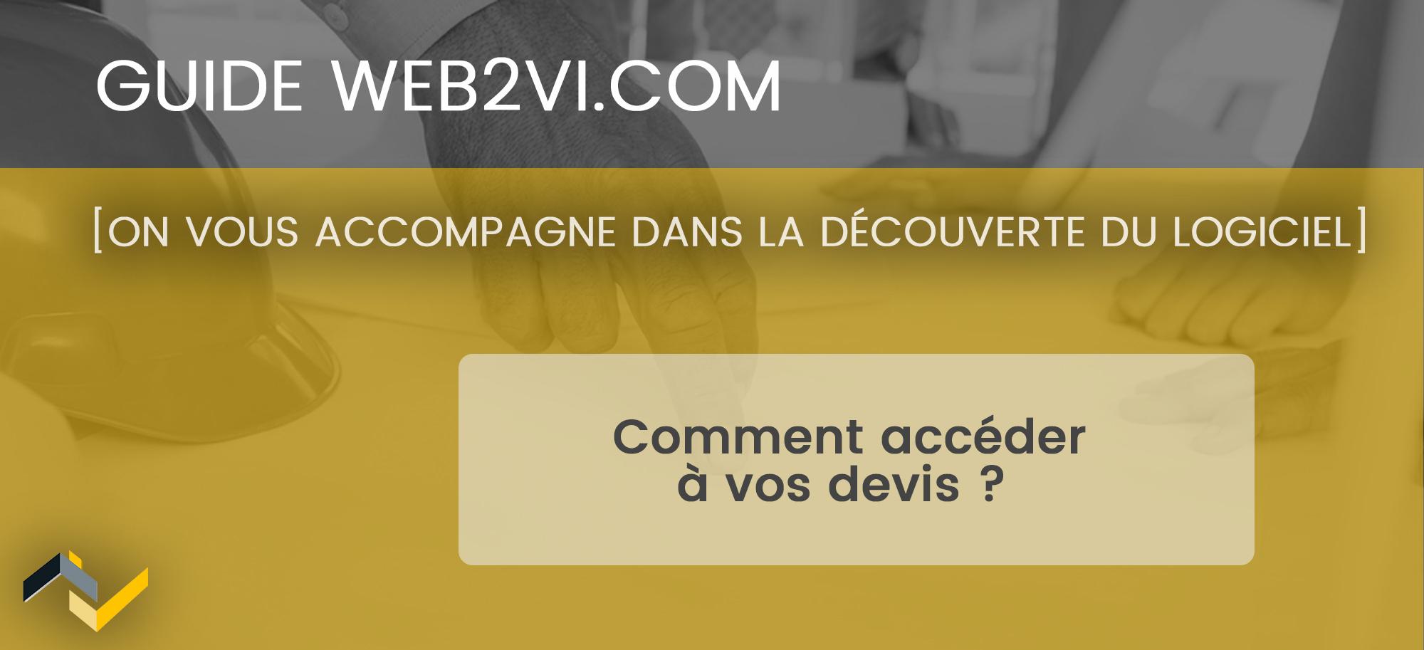 Créer et gérer un devis dans le logiciel Web2vi.com