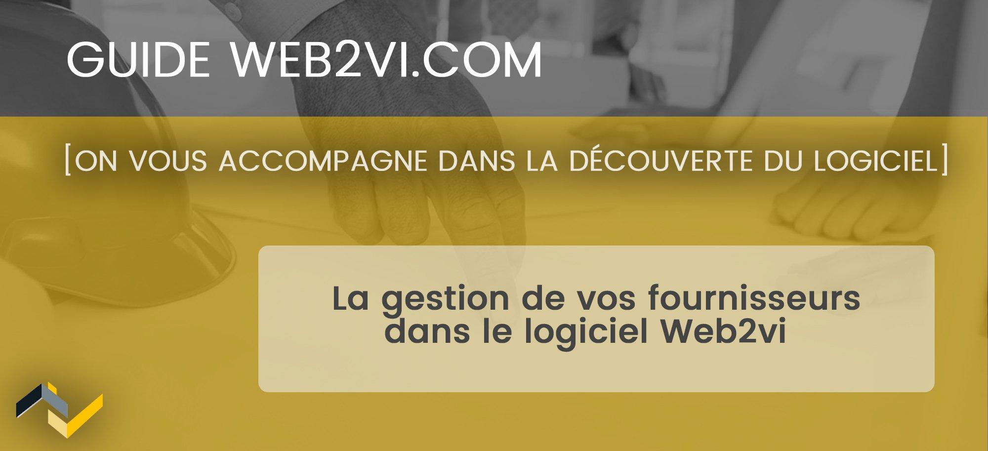 Ajouter vos fournisseurs dans la base de données Web2vi