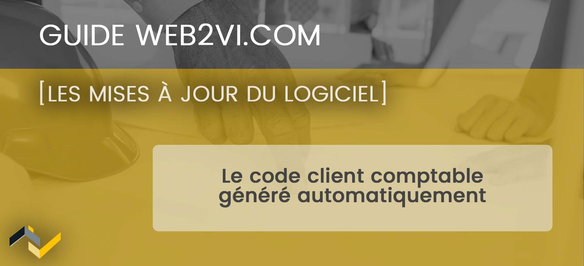 Le paramétrage des codes clients comptables sur le logiciel Web2vi.com