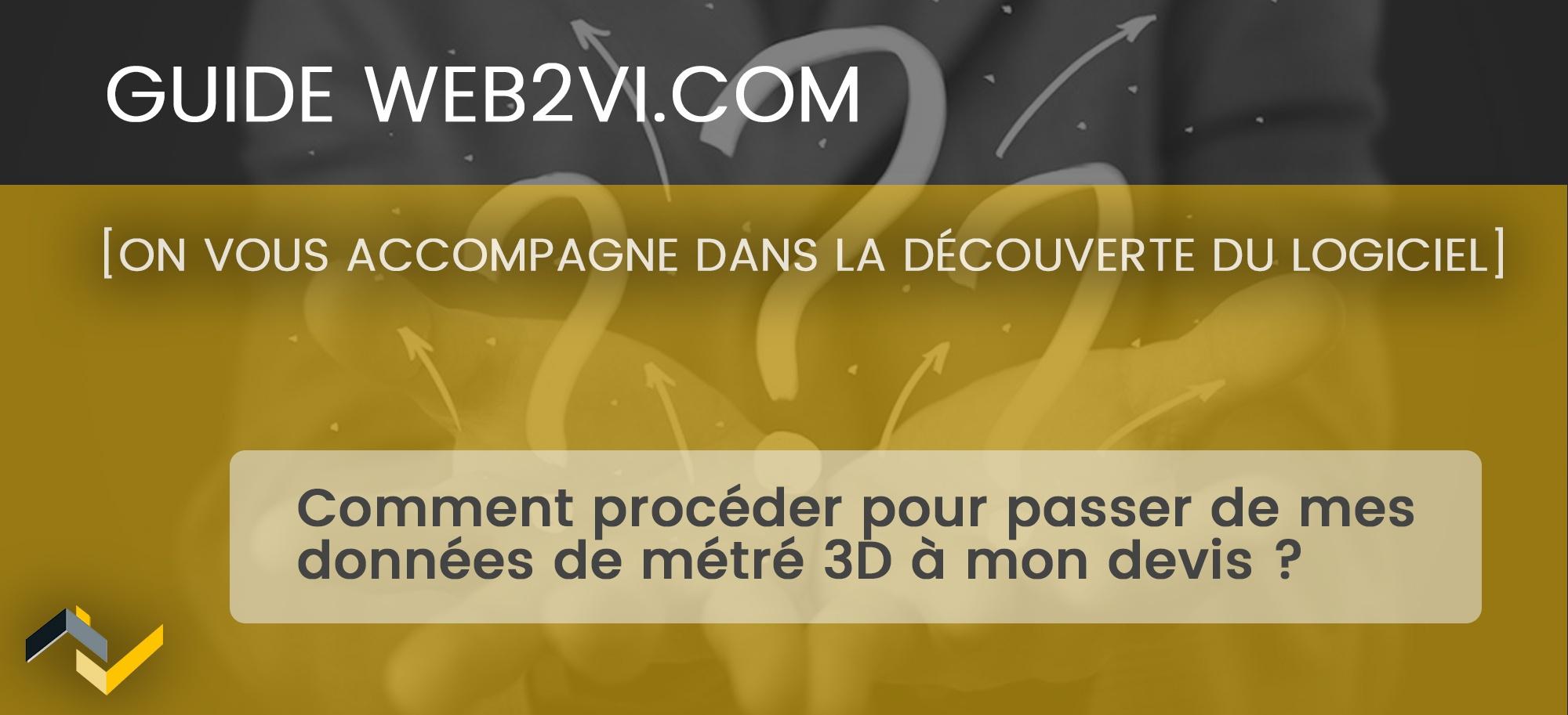 Intégrer les données de métrés recueillies par drone dans Web2vi.com