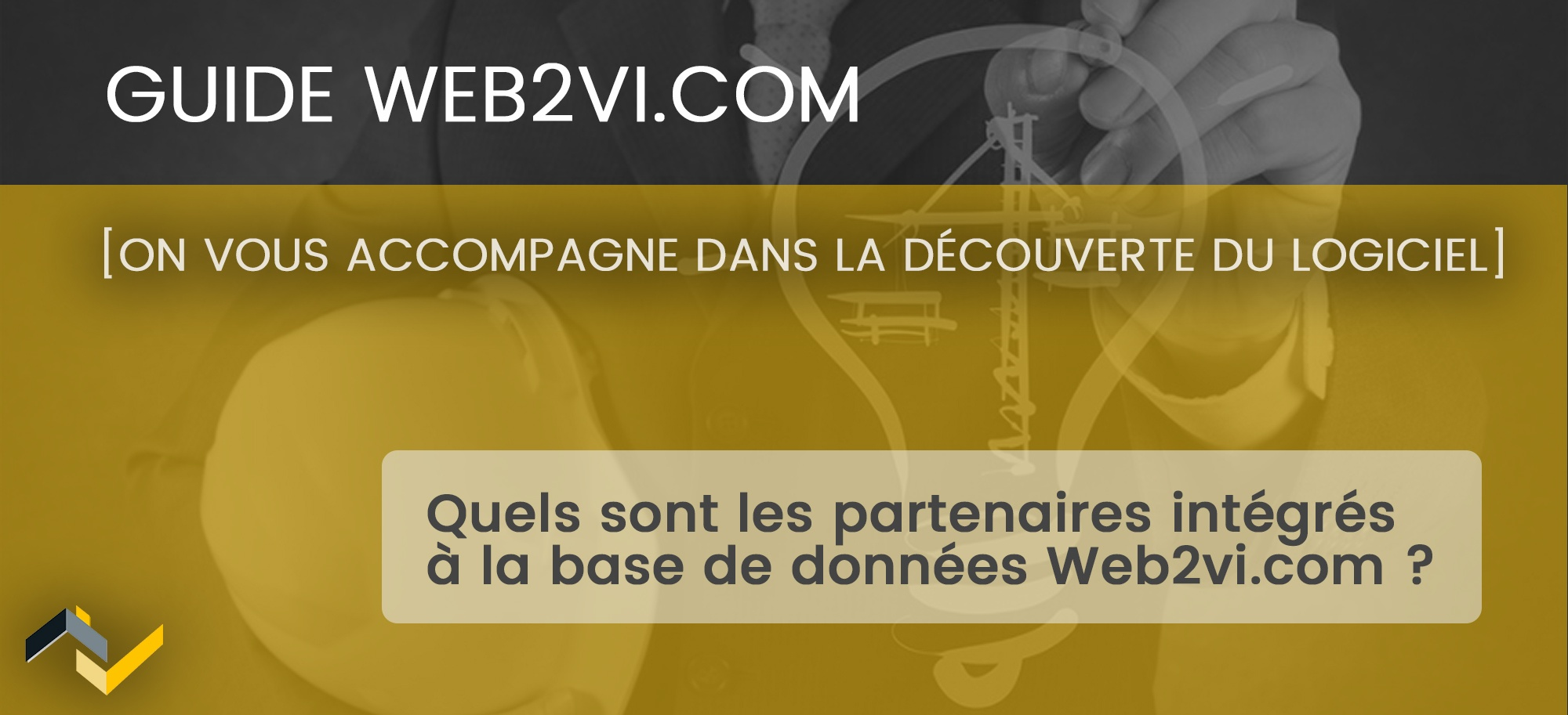 Quels sont les partenaires intégrés à la base de données Web2vi.com ?